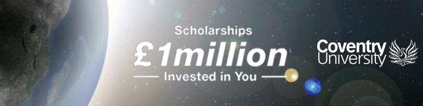 1 million pounds in scholarships offered by Coventry Unviersity