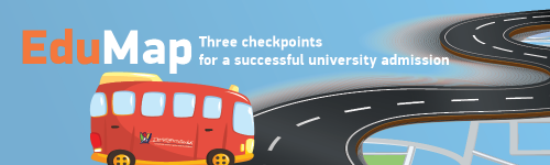 EduMap - Three checkpoints for a successful university admission